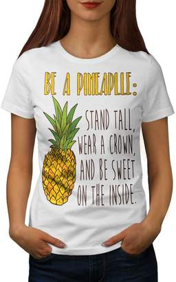 e64107e174a6e Wellcoda Pineapple Joke Womens T-Shirt