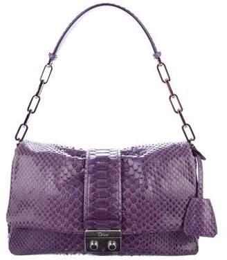 Christian Dior Python New Lock Flap Bag