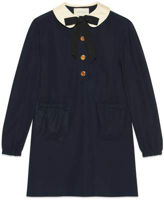 Gucci Cotton dress with detachable bow