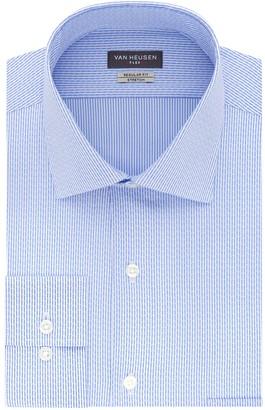Van Heusen Mens Flex Collar Regular Fit Stretch Dress Shirt