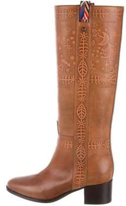 Valentino Tribal Knee-High Boots