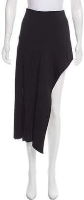 Anthony Vaccarello Asymmetrical Midi Skirt
