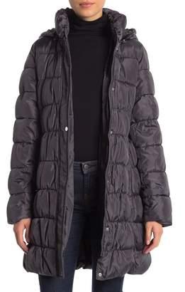 Via Spiga Quilted Packable Hood Coat