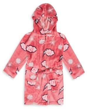 Petit Lem Little Girl's & Girl's Wonder Girl Hooded Robe