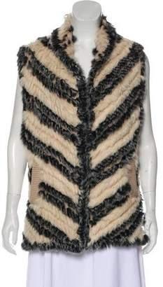 Marc by Marc Jacobs Fur Striped Vest