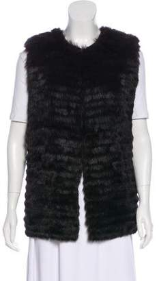 Allude Fur-Paneled Wool Vest