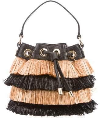 Milly Astor Straw Bucket Bag