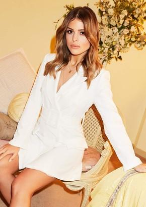 70b78ff4b7d7 Missy Empire Missyempire Hena White Belted Blazer Dress
