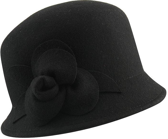 Felt Floral Cloche Hat