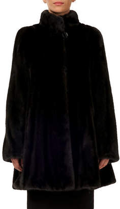 Gorski Mink Fur Stroller Coat w/ Skirt Bottom