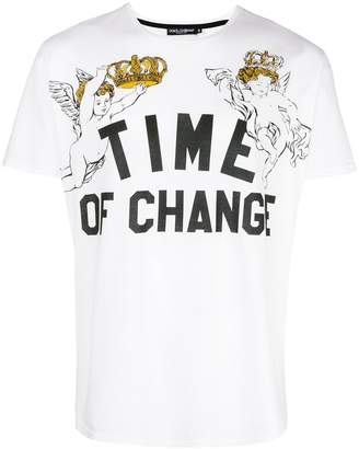 Dolce & Gabbana time of change print T-shirt