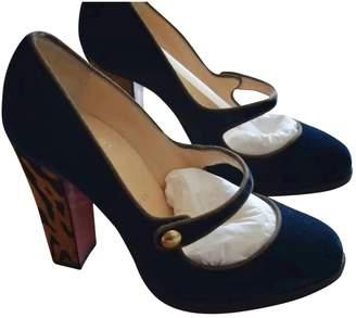 Christian Louboutin Blue Velvet Heels