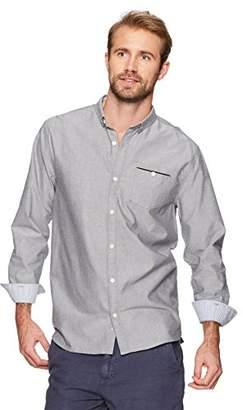 Isle Bay Linens Men's Standard-Fit 100% Cotton Long-Sleeve Woven Shirt Chambray
