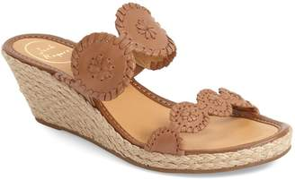 Jack Rogers 'Shelby' Whipstitched Wedge Sandal
