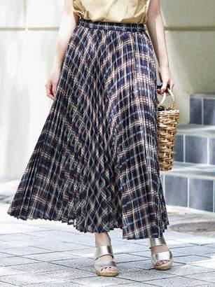 Perle Peche (ペルル ペッシュ) - ペルルペッシュ チェックアコーディオンプリーツスカート