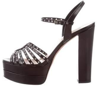 Valentino Love Latch Platform Sandals