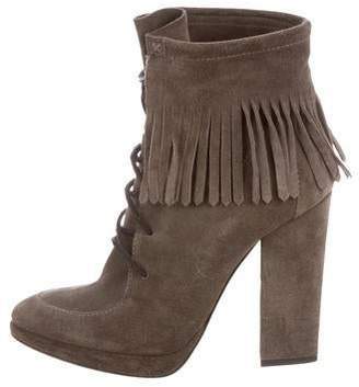 Giuseppe Zanotti Fringe-Trimmed Suede Bootie
