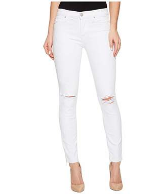 Hudson Jeans Nico Ankle in Optical White Destructed