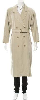 Burberry Woven Button-Up Trench Coat