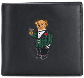 Polo Ralph Lauren embroidered teddy wallet