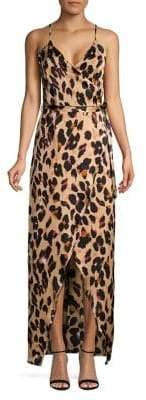 Quiz Leopard Print Maxi Wrap Dress
