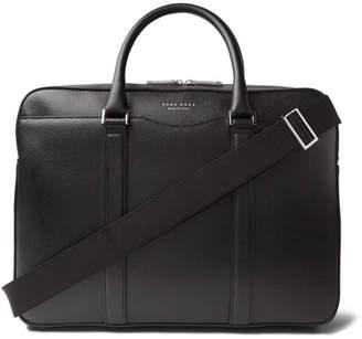 HUGO BOSS Signature Cross-Grain Leather Briefcase
