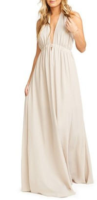 Women's Show Me Your Mumu Luna Halter Gown $198 thestylecure.com
