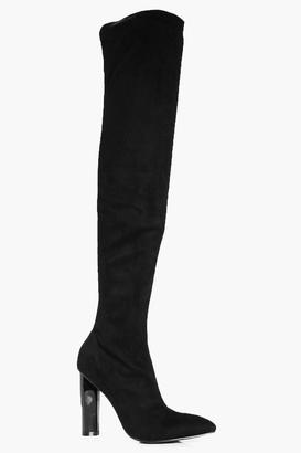 Kayla Pointed Thigh High Boots