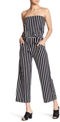 Velvet Torch Strapless Stripe Jumpsuit