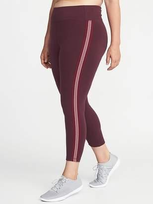 Old Navy High-Rise Side-Stripe Plus-Size 7/8-Length Yoga Leggings