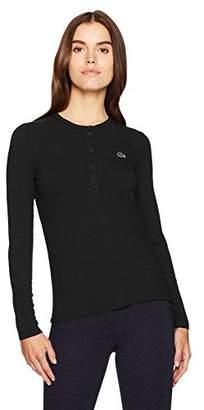 Lacoste Women's Long Sleeve Henley Tee