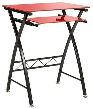 George Glass Computer Desk - Red