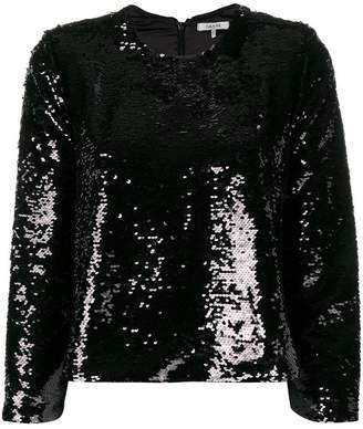 Ganni sequin embroidered blouse