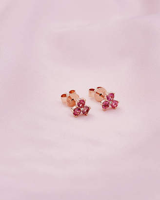 Ted Baker SAFRONN 9ct rose gold and pink tourmaline earrings