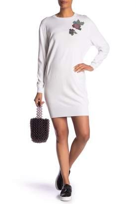 Love Moschino Vestito Roxe Pixel Sweater Dress
