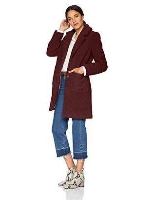 French Connection Women's 3/4 Faux Shearling Coat,S