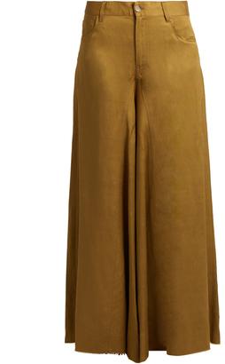 MM6 BY MAISON MARGIELA Mid-rise wide-leg trousers $465 thestylecure.com
