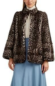 LILLY e VIOLETTA Women's Esmerelda Leopard-Print Mink Fur Coat
