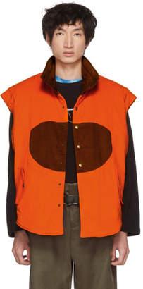 St-Henri SSENSE Exclusive Orange & Tan Corduroy Hunting Vest