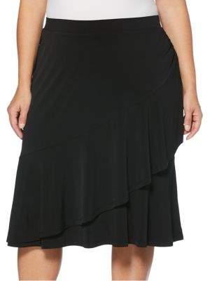 Rafaella Plus Asymmetrical Tiered Skirt