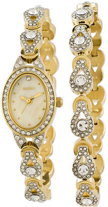 Elgin Womens Crystal Watch and Bracelet