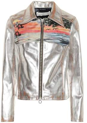 Golden Goose Mira metallic leather jacket