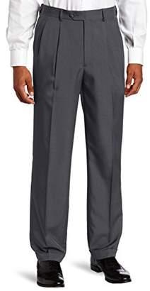 Savane Men's Pleated Select Edition Crosshatch Dress Pant