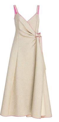 Rosie Assoulin Side Tie Wrap Dress