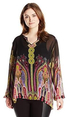 Single Dress Women's Plus Size Marisol Long Sleeved Blouse $29.60 thestylecure.com