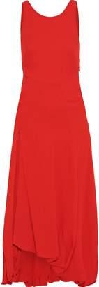 3.1 Phillip Lim Asymmetric Pleated Crepe Midi Dress