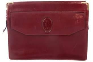 Cartier Leather Zip Clutch