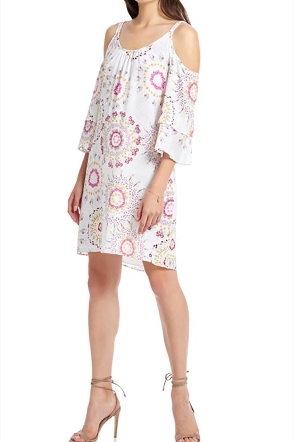 Ecru Cold Shoulder Dress