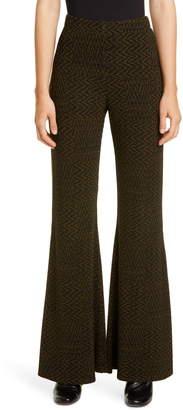 Beaufille Riva Tiled Chevron Knit Flare Pants