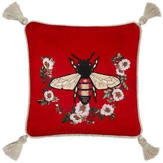 Gucci Bee Embroidered Velvet Pillow